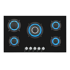 """Gas Cooktop Empava 34"""" 5 Burners Built-in Stove Tops Glass Surface Cooker 5L90A"""