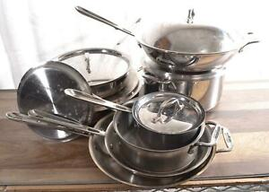 All-Clad Copper Core 14-Piece Cookware Set Stainless Steel Oven-Safe Handcrafted