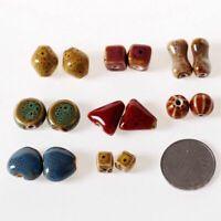 Ceramic Beads Handmade Porcelain Jewelry Fashion Bracelet Making DIY Craft 50pcs