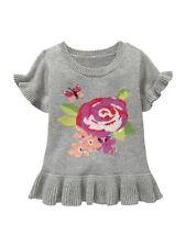 Blumenmuster Pullover für Baby Mädchen