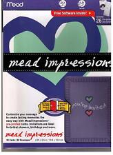 Mead General Invitations Hearts Purple Your Invited 26 Count