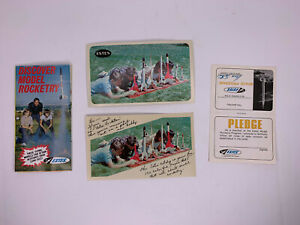 Vintage Estes Model Rocket Postcard, Catalog, Space Program Card Lot