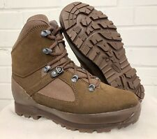 HAIX BROWN DESERT HIGH LIABILITY ANKLE COMBAT BOOTS  - 7 Wide , British Army NEW