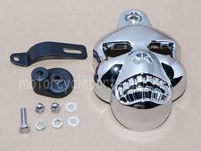 Skull Horn Cover Cowbell For Harley Dyna Sportster Softail V-Rod Street Glide