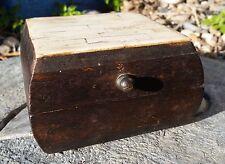 Beautiful small wooden JEWELRY TRINKET BOX w/bone inlay handmade