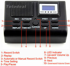 Digital Telephone Call Phone Voice Recorder LCD Display With SD Card Slot TK NEW