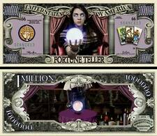 Fortune Teller Million Dollar Bill Fake Funny Money Novelty Note + FREE SLEEVE