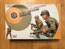 Vintage Airfix 1/32 Scale WWII American Infantry - complete in target box