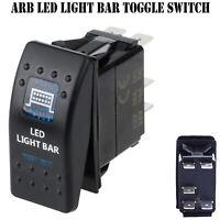 LED Light Bar 12V ARB Carling Rocker Waterproof Toggle Switch Blue Car Boat AU