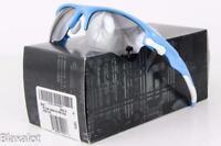 NEW OAKLEY FAST JACKET XL SUNGLASSES Sky Blue frame / Black Iridium lens