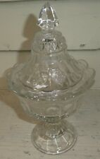 EAPG Strawberry & Cable Northwood Glass Lidded Compote Jelly Dish Falmouth SH