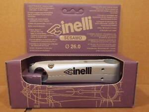 New-Old-Stock Cinelli Sesamo Stem..Silver Finish w/Black Decals (120 mm)