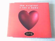 THE ORIGINAL - I LUV U BABY - CLASSIC DANCE CD SINGLE