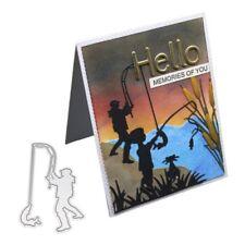 Fishing Metal Cutting Dies Stencil DIY Scrapbooking Album Paper Card Embossing