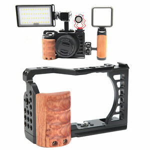 Durable Camera Video Shooting Cage with Handle Grip for Sony A7C Camera Aluminum
