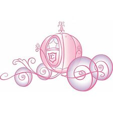 DISNEY PRINCESS CARRIAGE LARGE WALL DECAL APPLIQUES -  STICKERS, GLITTER