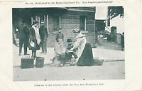 SAN FRANCISCO CA - Cooking In The Streets After The Fire - udb (pre 1908)