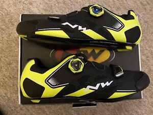Northwave Sonic 2 Plus Road Cycling Shoes UK 8.5 EU42 Black Fluo See Descr