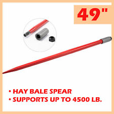 """Compact 49"""" Hay Bale Spear Attachment with 2.25T Capacity for Truck Tractor More"""