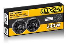 """VW Golf MK4 Rear Door Speakers Kicker 6.5"""" 17cm car speaker kit + pods 240W"""