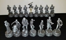 2005 Star Wars Replacement CHESS PIECES You Pick SILVER Chewie Leia Han Obi Fett