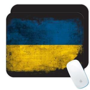 Gift Mousepad : Ukraine Distressed Flag Vintage Ukrainian Expat Country