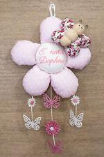 Fiocco Nascita Fiore con Farfalla con ricamo personalizzato