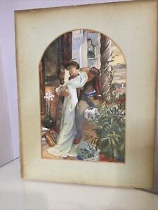 Antique Watercolour Painting Framed  Signed And Dated 1905