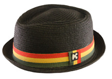 Diamond Crown Pork Pie Fedora Paper Straw Rasta Hat - Size XL