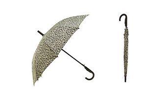 "Animal Print 44"" Doorman Wood Hook Handle Umbrella Rain"