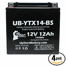 4x Battery for 1991 - 2002 Honda ST1100, ABS-TCS, 1100A 1100 CC