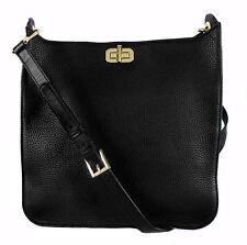 ** MICHAEL KORS Sullivan LG Black Leather N/S Messenger Cross-body Bag Msrp $348