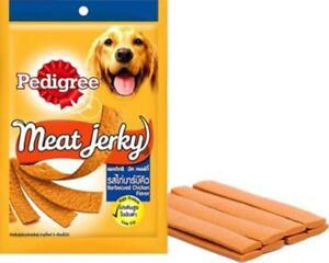 Pedigree Meat Jerky Babecued Chicken Flavor Dogs Food Nutritionally complete 80g