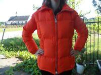 VTG David S Reid Men's M Canada Goose Down Orange Puffer Jacket Coat 80's 90's