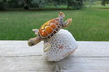 Small Turtle in Coral Garden Pond Decor New Resin Nautical ocean sea 4 in.x 3 in