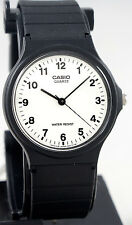 Casio Classic White Analog Watch MQ-24-7B Black Resin Band Numbers New