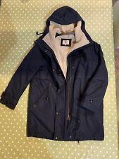 Aigle Waterproof Fleece Lined Ladies Hooded Coat Size 38