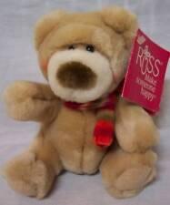 """RUSS SOFT TAN TEDDY BEAR W/ SCARF 5"""" Plush STUFFED ANIMAL Toy NEW"""
