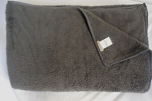 Pottery Barn Gray Plush Polyester Gray Throw 50X70 NEW without Tags