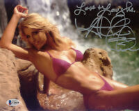 HEATHER THOMAS SIGNED AUTOGRAPHED 8x10 PHOTO FALL GUY SEXY PIN UP BECKETT BAS
