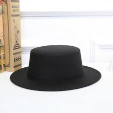 Women Vintage Classic Retro Jazz Lady Warm Fedoras Cotton Felt Caps Flat Top Hat