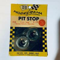 "NOS 1:32 Scale K&B Aurora Pit Stop 1 1/8"" Tires German Formula Wide Slick"
