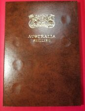 Australian Part Shilling Set in Dansco album