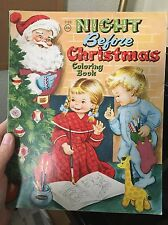 Vintage NIGHT BEFORE CHRISTMAS Coloring Book Whitman 1956