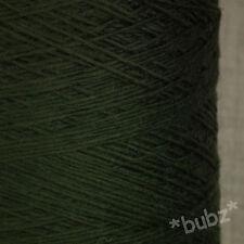 Splendido Morbida Italiano 4 strati pura lana merino imperial verde 500g CONO Lavorato a Maglia Filato