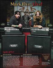 Mesa Boogie amps advertisement print Lamb of God Wrath Willie Adler Mark Morton