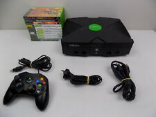 Original XBOX Console + Controller + 10x Games + Cables - Region Free !!