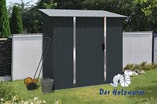 Geräteschuppen Titan 194x119cm Gerätehaus Stahl Metall Geräteschrank Garten