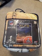 NFL 2014 Super Bowl XLVIII (48) New York City Seahawks vs. Broncos Throw/Blanket
