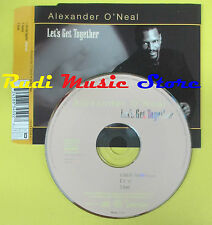 CD Singolo ALEXANDER O'NEAL Let's get together 1996 italy EMI no lp mc dvd (S14)